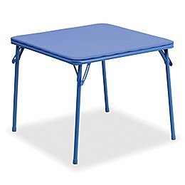 Flash Furniture Kids Folding Table in Blue