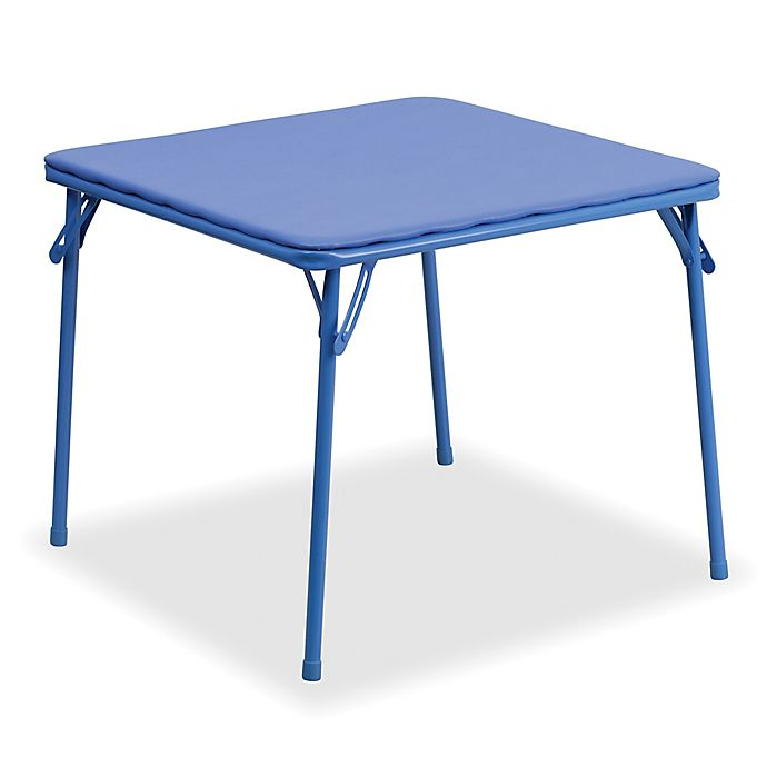 Alternate image 1 for Flash Furniture Kids Folding Table in Blue
