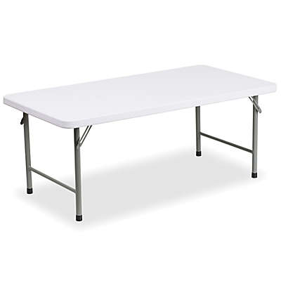 Flash Furniture 48-Inch Kids Plastic Folding Table in White