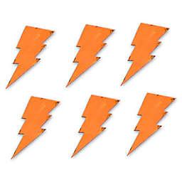 Letter2word Babes & Kiddos 6-Pack Lightning Bolt Wall Art Set