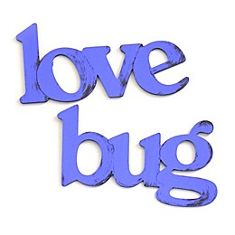 Letter2word Babes & Kiddos Love Bug 9-Inch x 34-Inch Wall Art