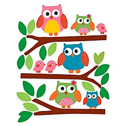 Wallies Owls Peel & Stick Wall Decals
