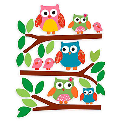 Wallies Owls Peel & Stick Wall Decals
