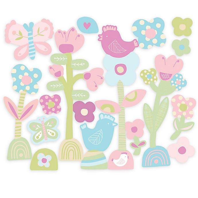 Alternate image 1 for Wallies Baby Daisy Peel & Stick Wall Decals