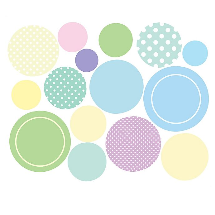 Alternate image 1 for Wallies Baby Dots Peel & Stick Wall Decals
