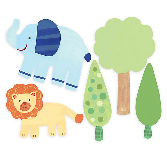 Alternate image 1 for Wallies Zoo Baby Peel & Stick Wall Decals