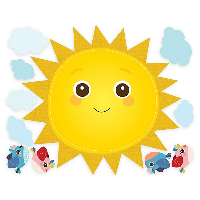 Alternate image 1 for Wallies Baby Sunshine Peel & Stick Wall Decals