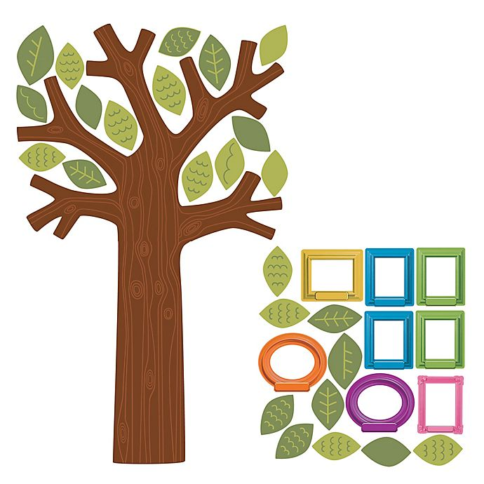 Alternate image 1 for Wallies Fun Family Tree Peel & Stick Wall Decals