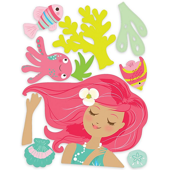 Alternate image 1 for Wallies Mermaid Peel & Stick Wall Decals