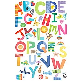 Wallies Alphabet Fun Peel & Stick Wall Decals