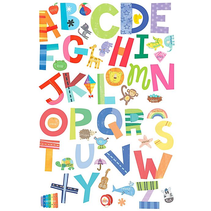 Alternate image 1 for Wallies Alphabet Fun Peel & Stick Wall Decals