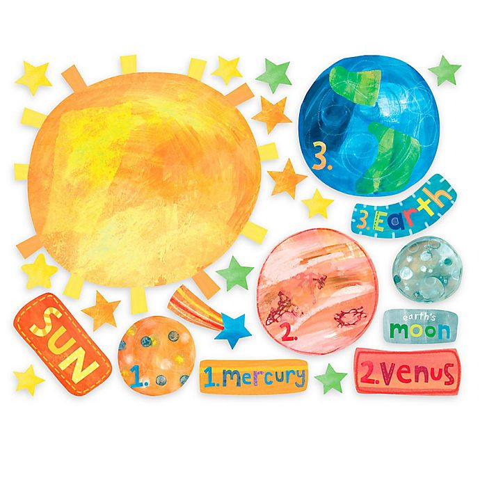 Alternate image 1 for Wallies Solar System Peel & Stick Wall Decals