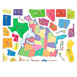 Wallies U.S. State Map Peel & Stick Wall Decal