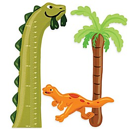 Wallies Dino Growth Chart Peel & Stick Wall Decals