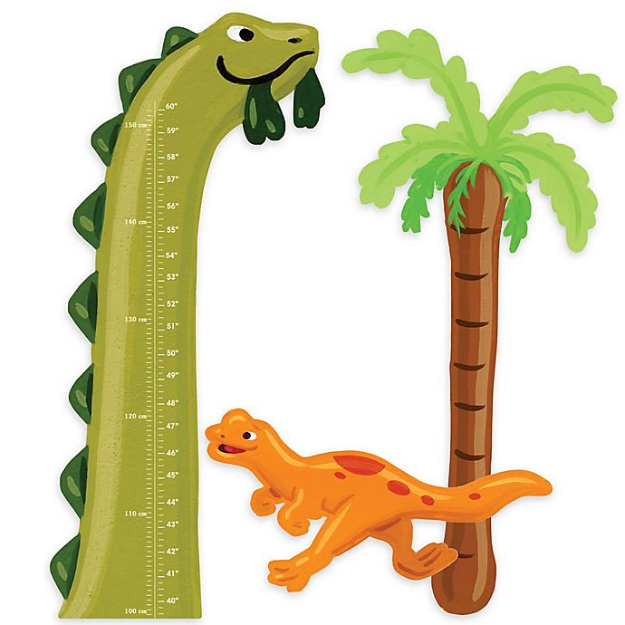 Alternate image 1 for Wallies Dino Growth Chart Peel & Stick Wall Decals