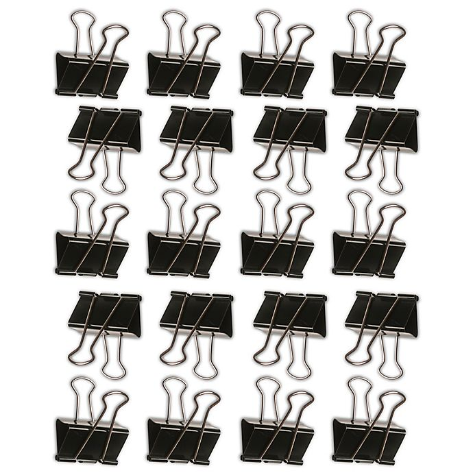 Alternate image 1 for Wallies Hang it Up Binder Clips Peel & Stick Wall Decals