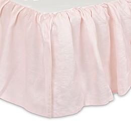 Just Born® Keepsake Washed Linen Crib Skirt in Pink