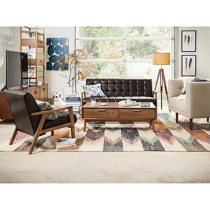 Living Room Bed Bath And Beyond: Mid-Century Mix Living Room