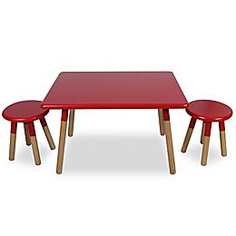 Kids 3-Piece Dipped Table and Stool Set