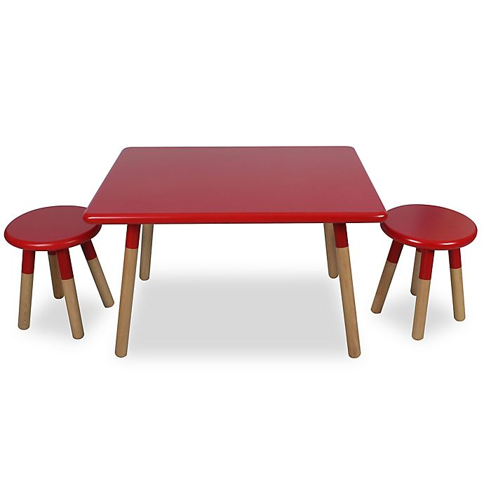 Alternate image 1 for Kids 3-Piece Dipped Table and Stool Set