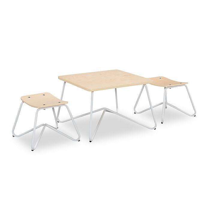 Alternate image 1 for Kellan Kids Table with Stools in White (Set of 3)