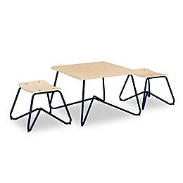 Kellan Kids Table with Stools in Navy (Set of 3)