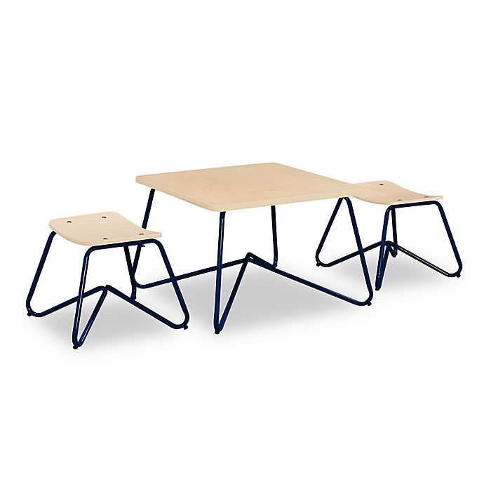 Alternate image 1 for Kellan Kids Table with Stools in Navy (Set of 3)