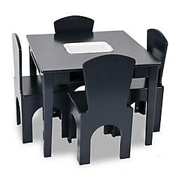 Kids Table and Stool Set in Navy with Storage Bucket