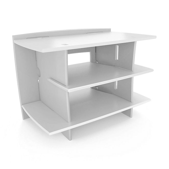 Alternate image 1 for Legare Classic Collection Gaming Stand in White