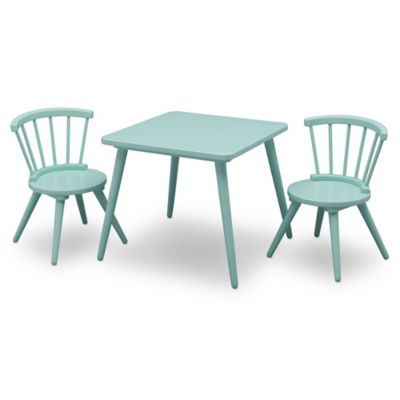 Delta Children Windsor 3 Piece Table And Chair Set In Aqua Bed Bath Beyond