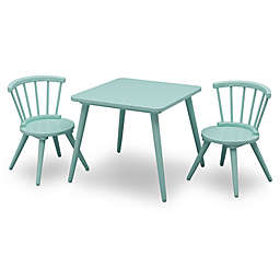 Delta Children Windsor 3-Piece Table and Chair Set in Aqua