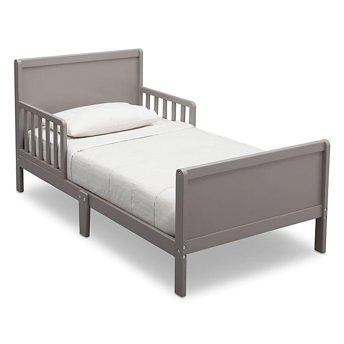 Alternate image 1 for Delta Bianca Children Fancy Wood Toddler Bed in Grey