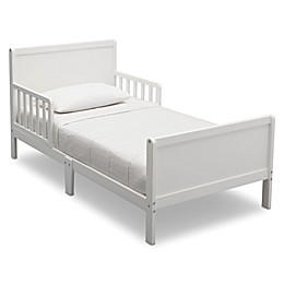 Delta Bianca Children Fancy Wood Toddler Bed in White