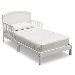Delta Children Abby Pinewood Toddler Bed in White