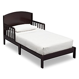 Delta Children Abby Pinewood Toddler Bed in Dark Chocolate