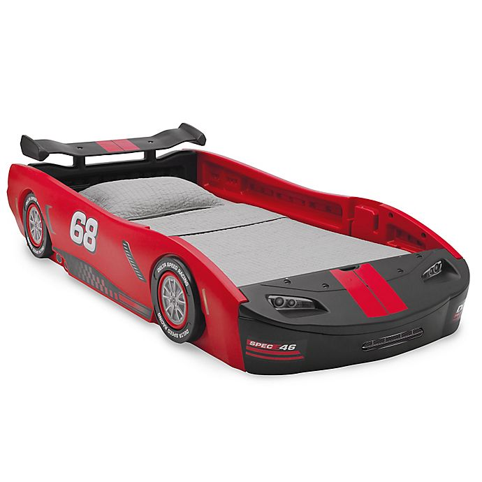 Alternate image 1 for Delta Children Turbo Race Car Twin Bed in Red