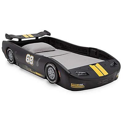 Delta Children Turbo Race Car Twin Bed in Black