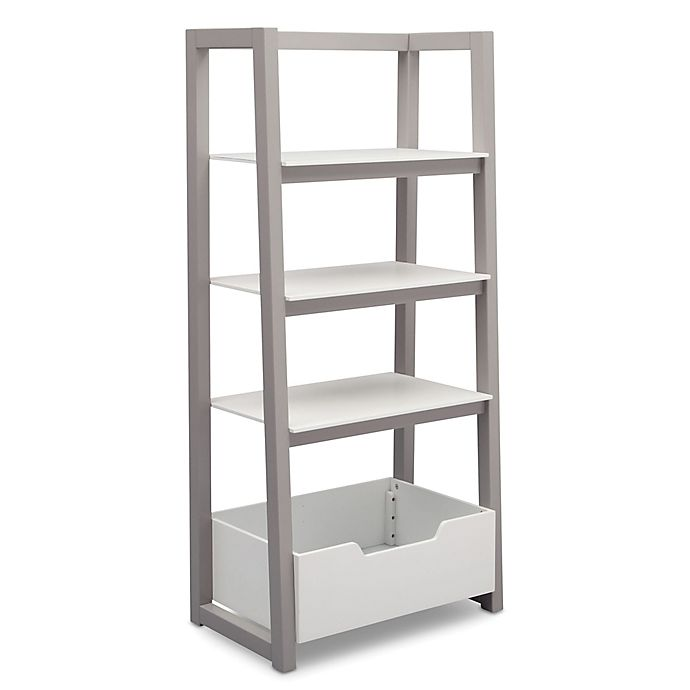 Alternate image 1 for Delta Children Ladder Shelf in White/Grey