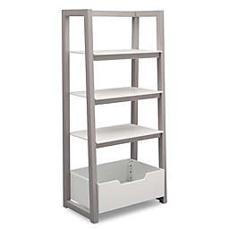 Delta Children Ladder Shelf In White Grey