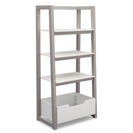 Delta Children Ladder Shelf In White Grey Buybuy Baby