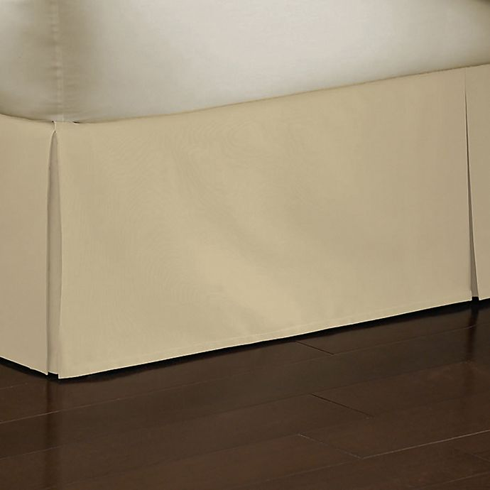 Alternate image 1 for Smoothweave™ 14-Inch Tailored Twin Bed Skirt in Butter