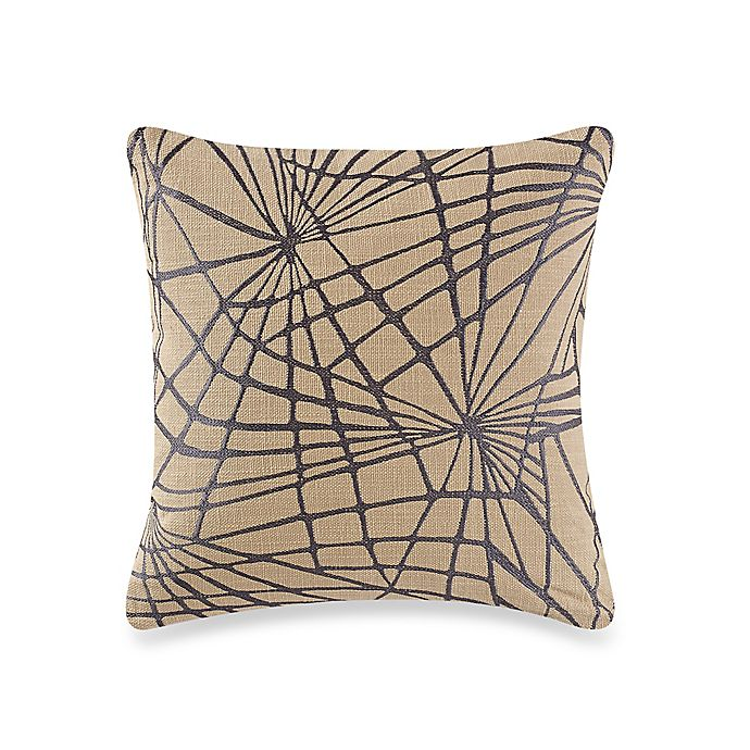 Alternate image 1 for Kelly Wearstler Haze Shuck Square Throw Pillow in Onyx