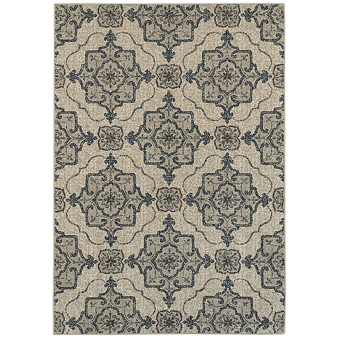 Alternate image 1 for Oriental Weavers Highlands Geometric Floral 3-Foot 10-Inch x 5-Foot 5-Inch Scatter Rug in Beige