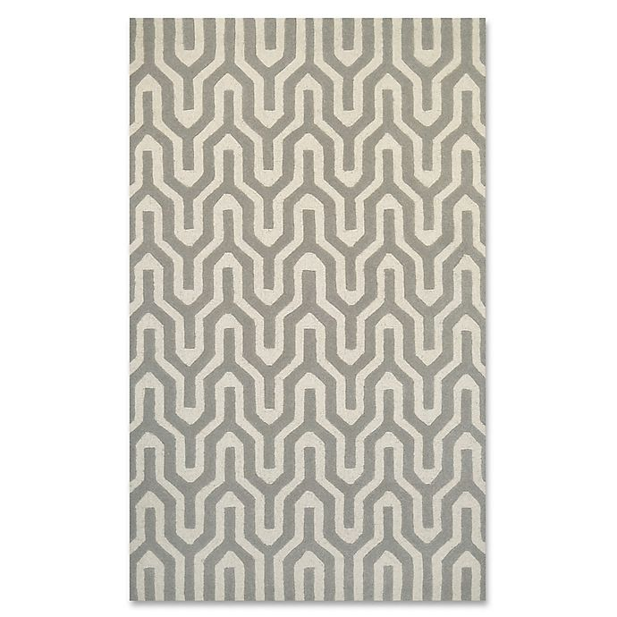 Alternate image 1 for Couristan® Super Indo Naturals Cambria 5-Foot 6-Inch x 8-Foot Area Rug in White/Grey
