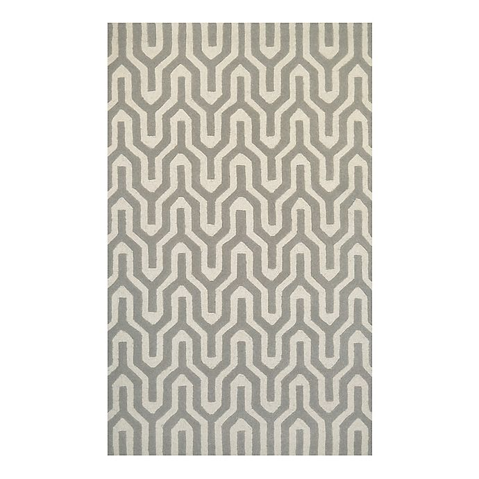 Alternate image 1 for Couristan® Super Indo Naturals Cambria 9-Foot 6-Inch x 13-Foot Area Rug in White/Grey
