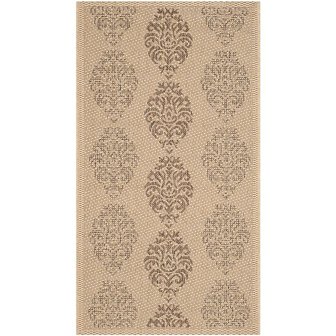 Alternate image 1 for Safavieh Courtyard 2-Foot x 3-Foot 7-Inch Indoor/Outdoor Accent Rug in Natural/Brown