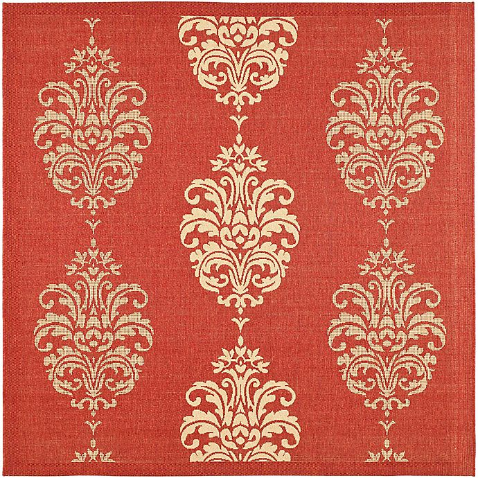 Alternate image 1 for Safavieh Courtyard 7-Foot 10-Inch Square Indoor/Outdoor Area Rug in Red/Natural