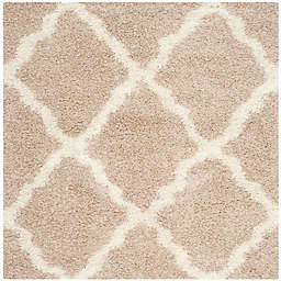 Safavieh Dallas 6-Foot Square Shag Area Rug in Beige/Ivory
