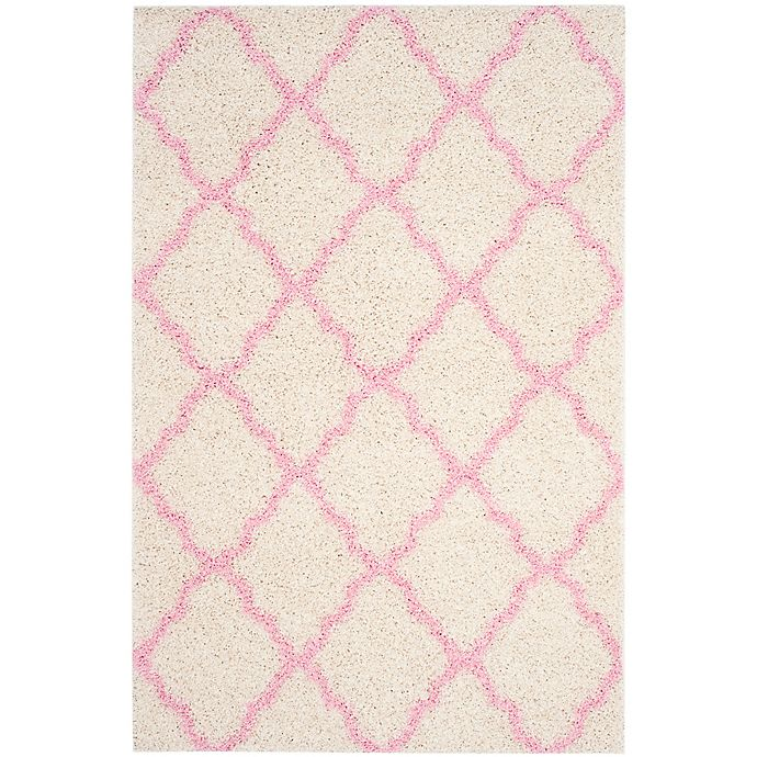 Alternate image 1 for Safavieh Dallas 6-Foot x 9-Foot Shag Area Rug in Ivory/Light Pink