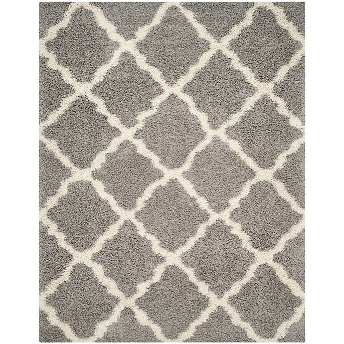 Alternate image 1 for Safavieh Dallas 6-Foot x 9-Foot Shag Area Rug in Grey/Ivory